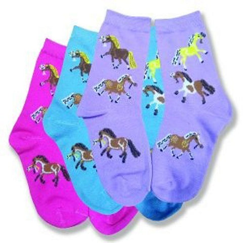 Youth AWST Puff Pony Crew Socks