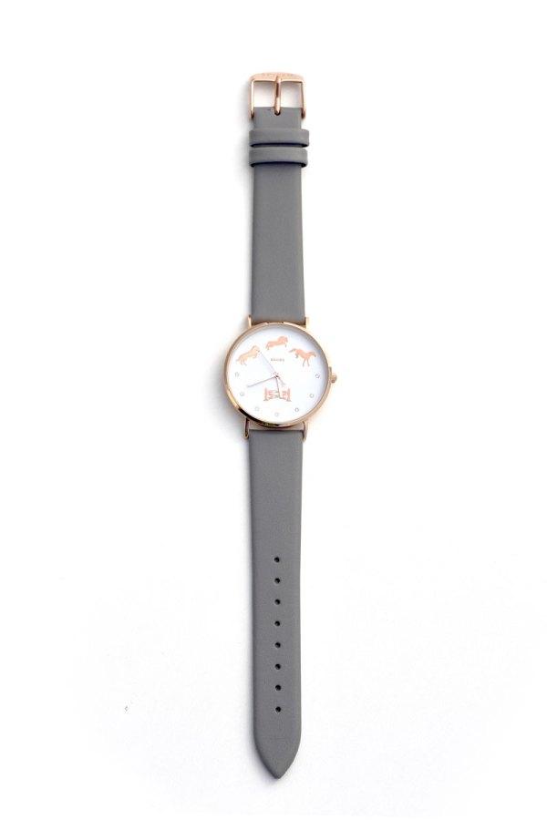 Spiced Equestrian Bascule Wrist Watch - Sterling/Rose Gold