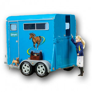 Breyer Traditional Two-Horse Trailer, Blue