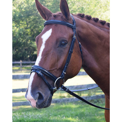 "Black Oak ""Juniper"" Bridle by KL Select, Black F/S"