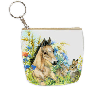 Key Chain with Zippered Coin Purse
