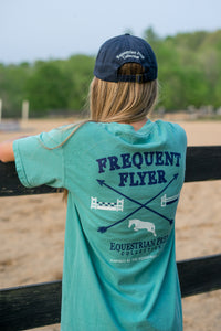 "Stirrups Preppy ""Frequent Flyer"" T Shirt - Seafoam"