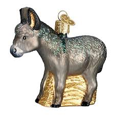 Glass Humble Donkey Ornament
