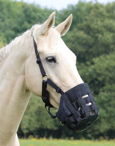 Shires Comfort Grazing Muzzle - Black
