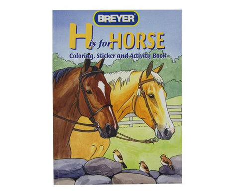 H Is For Horse Coloring Book with Stickers