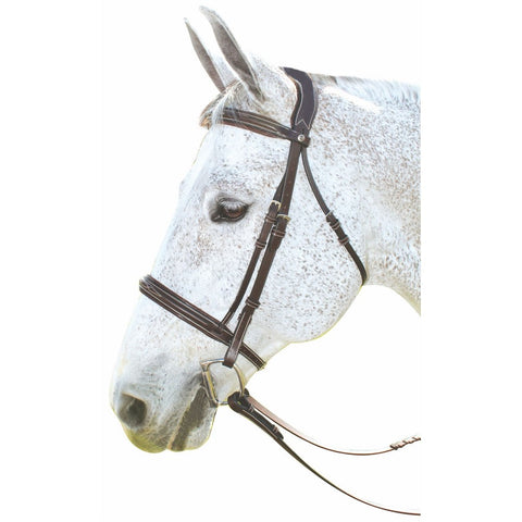 Pony- HDR Pro Mono Crown Fancy Padded Bridle w/ Laced Reins, Havana