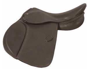 "HDR 14"" Pro Pony Covered Close Contact Saddle, Havana"