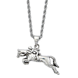 Jumper Horse and Rider Necklace