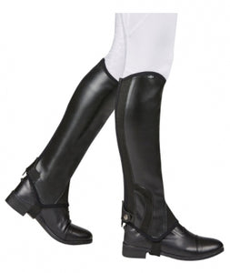 Adult Saxon Synthetic Half Chaps - Black