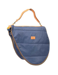 Saddle Carrying Bag - Navy/Tan