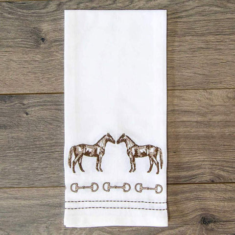 Horse and Snaffle Hand Towel (Set of 2)