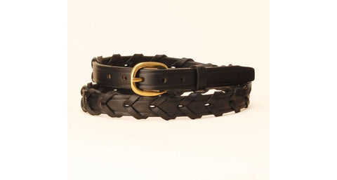 Youth Laced Rein Belt - Black