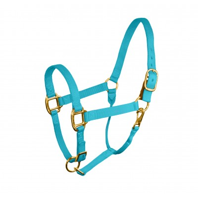 Perri's Nylon Stock Halter with Leather Safety Tab