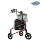 Three Wheel Rollator with Handle Breaks and a Pouch for Adult