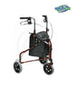 Three Wheel Rollator with Handle Breaks and a Pouch for Elderly