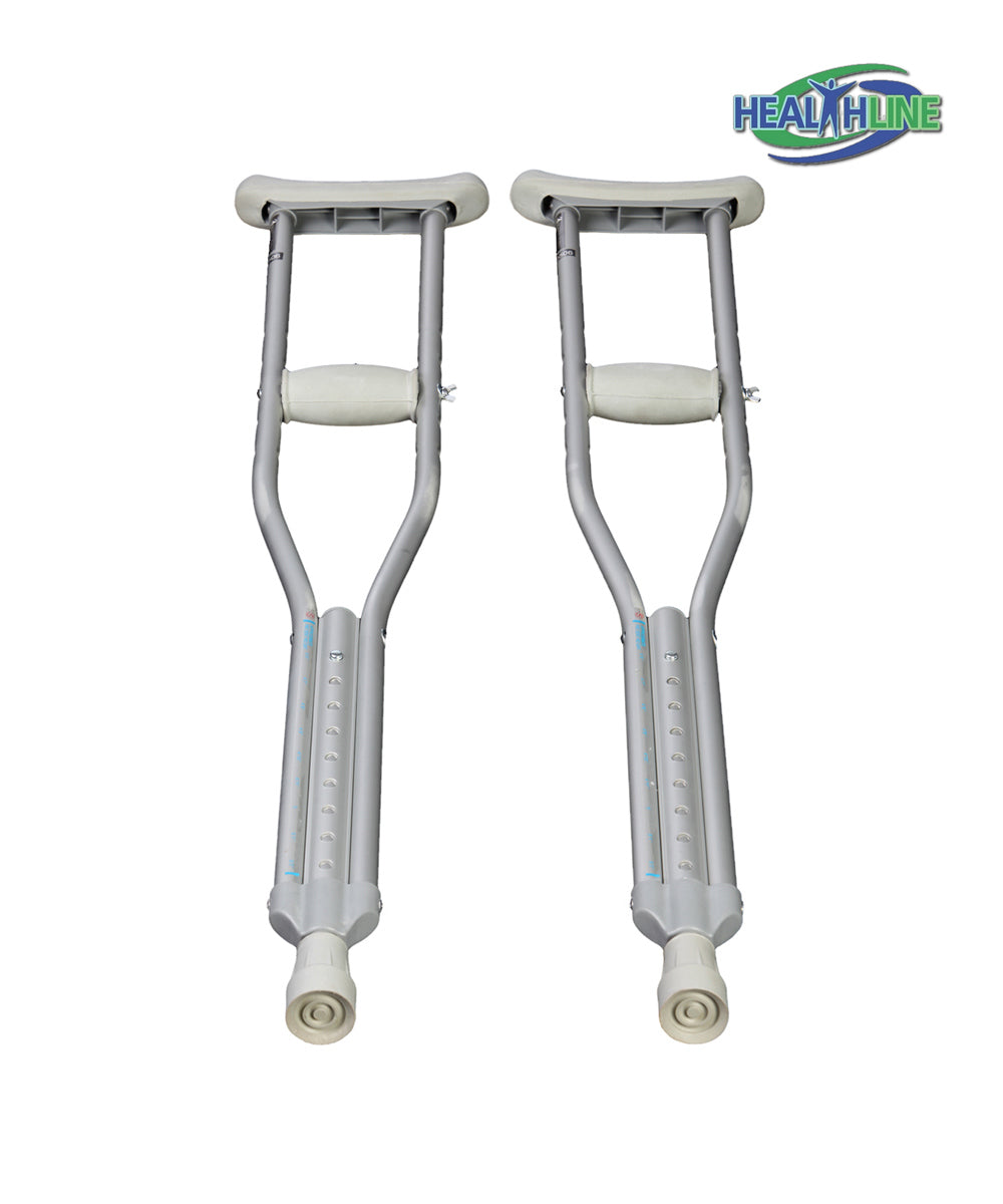 Crutches Standard Aluminum Pair FOR 5'2 – 5'10