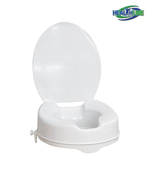 Raised Toilet Seat with Lid 4-inches in New York