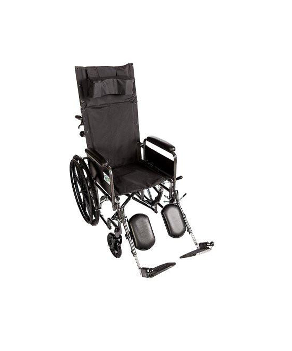 Wheelchair for Adult - Recliner Full Arm Detachable Padded Flip Back with ELR