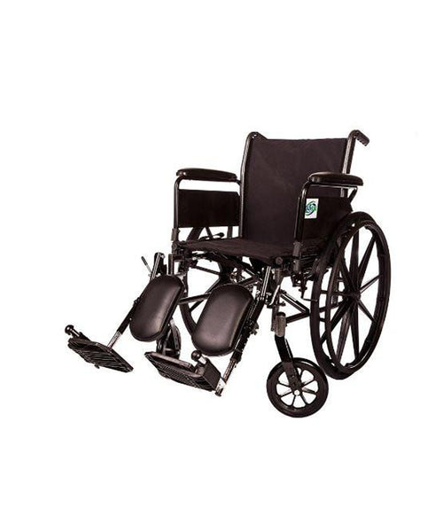 "Lightweight Wheelchair Arm Detachable with Elevating Legrest  (18"" FULL ARM)"