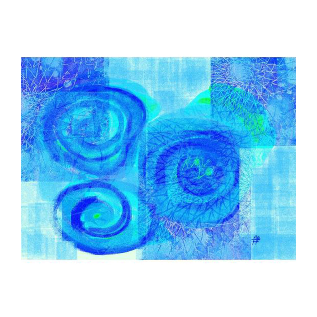 Blue Flower. Plastic Placemat Set of 4