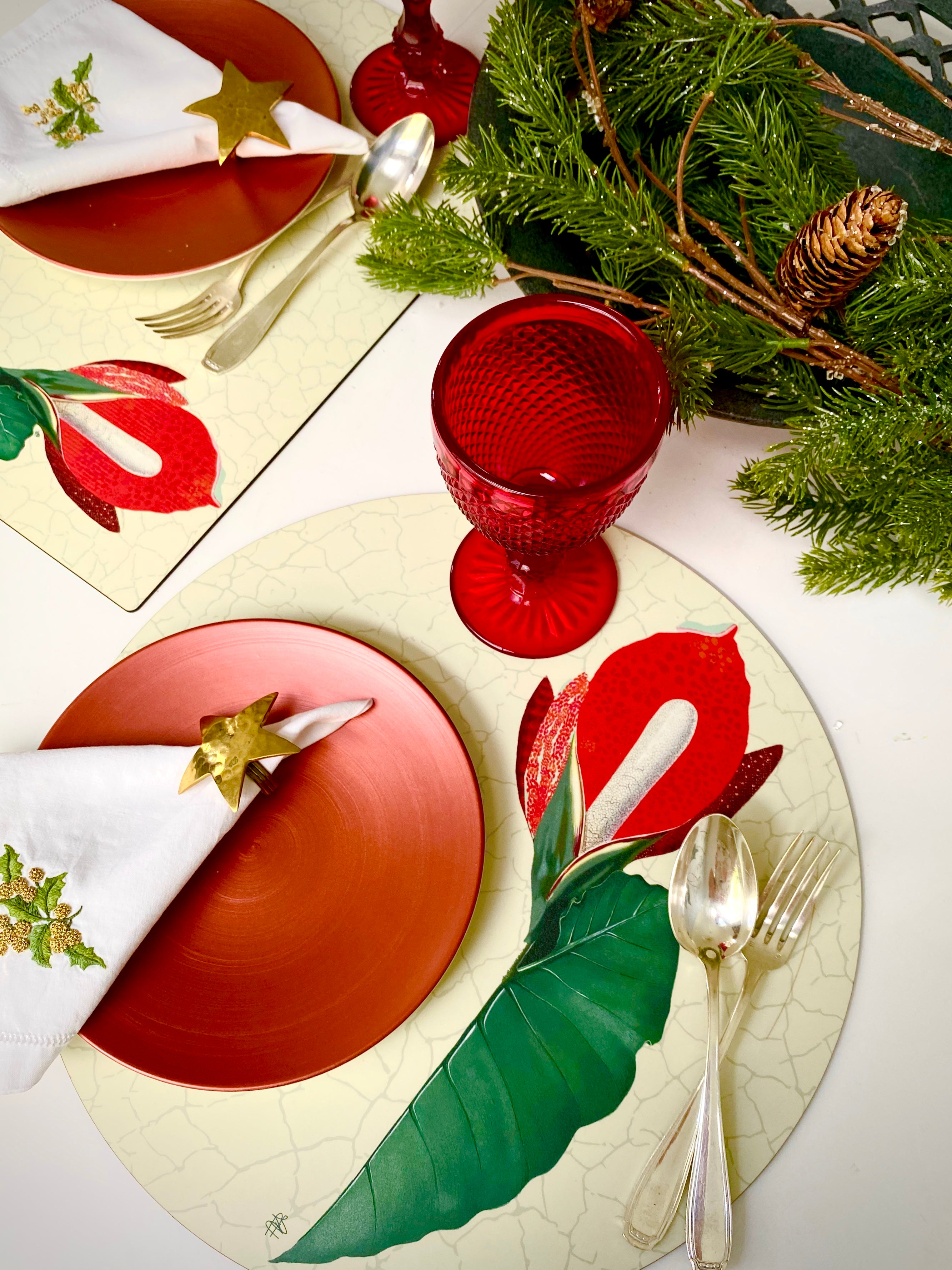 Red Calla Hardboard Placemat - bettibdesign
