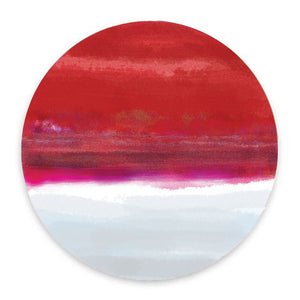 Iris Red & White Hardboard Placemat - bettibdesign