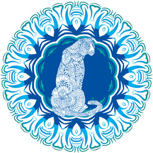 Panther Blue Hardboard Placemat - bettibdesign