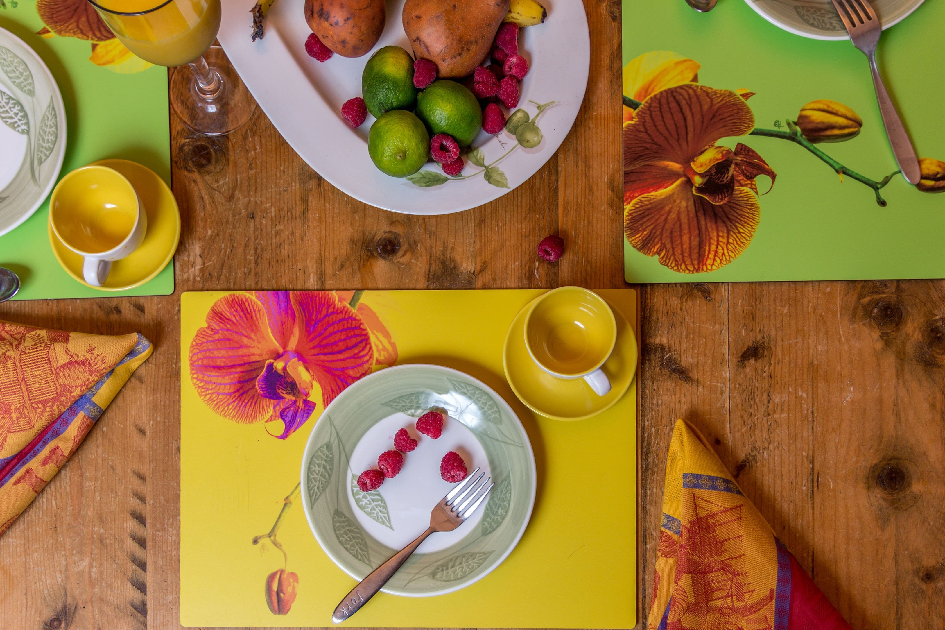 Orchid Yellow Placemat