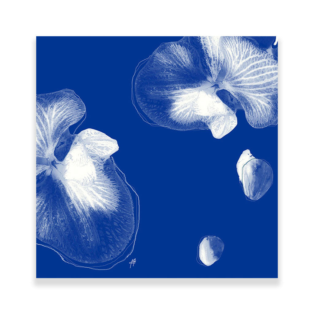 Abstract Blue Hardboard Placemat - bettibdesign