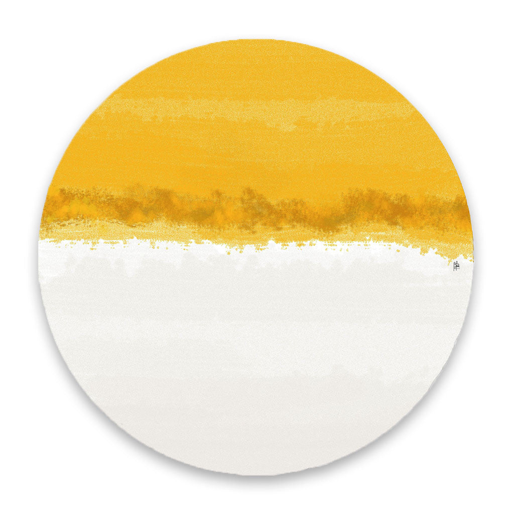 Iris Yellow & White Hardboard Placemat