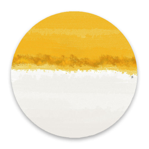 Iris Yellow & White Hardboard Placemat - bettibdesign