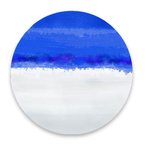 Iris Blue & White Hardboard Placemat - bettibdesign