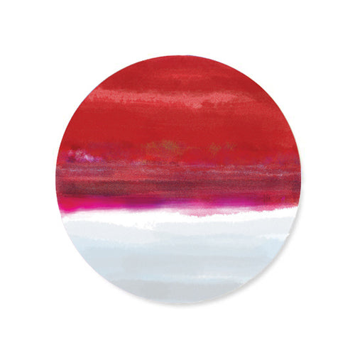 Iris Red Hardboard Coasters Set - bettibdesign