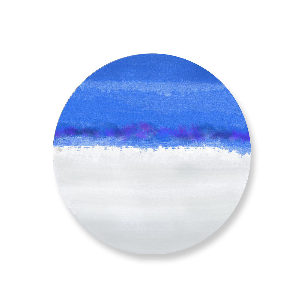 Iris Blue Hardboard Coasters Set - bettibdesign