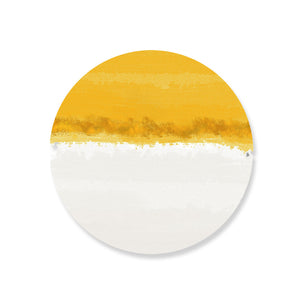 Iris Yellow Hardboard Coasters Set - bettibdesign