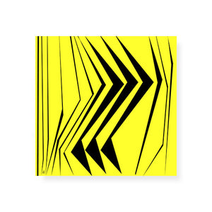Graphic O Yellow Hardboard Coaster