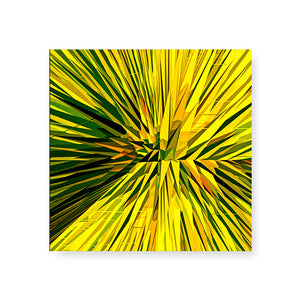 Wicker Yellow Hardboard Coaster