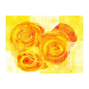 Yellow Flower. Plastic Placemat Set of 4