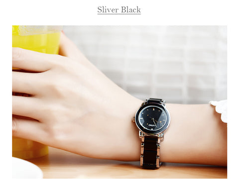 Women's Black Kimio Stainless Steel Wrist Watch