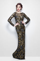 Evening Dress - Primerva Couture 1401 Black Multi