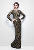 SALE - Evening Dress - Primerva Couture 1401 Black Multi