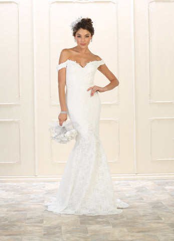 CLEARANCE WEDDING DRESS £250 (IVORY UK 12) - Beverley Hills Bridal RQ7561