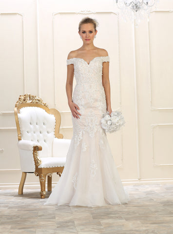 CLEARANCE WEDDING DRESS £250 (BLUSH UK 14) - Beverley Hills Bridal RQ7625
