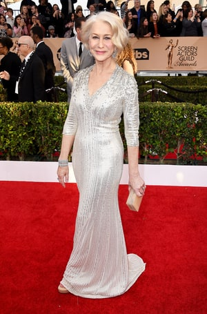 Helen Mirren at the Screen Actors Guild Awards 2017