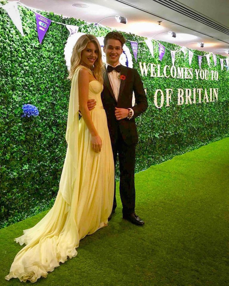 Mollie King and AJ Pritchard at The Pride of Britain Awards 2017