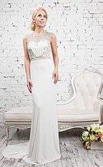 CLEARANCE WEDDING DRESS £250 (IVORY UK 14) - Gino Cerruti 1089X HANNAH