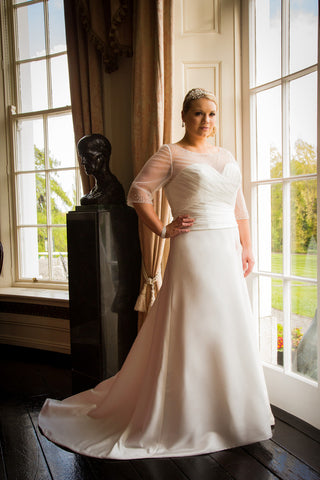 CLEARANCE WEDDING DRESS £250 (IVORY UK 20) - Beautiful Brides BB15119