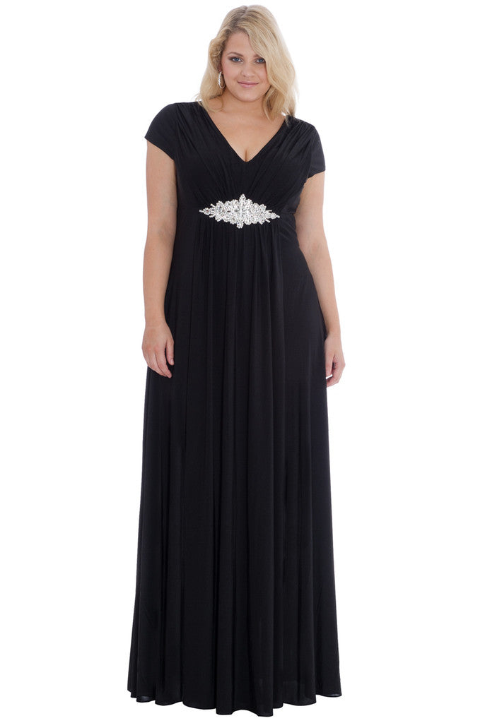 Plus Size Evening Dress - City Goddess DR499P