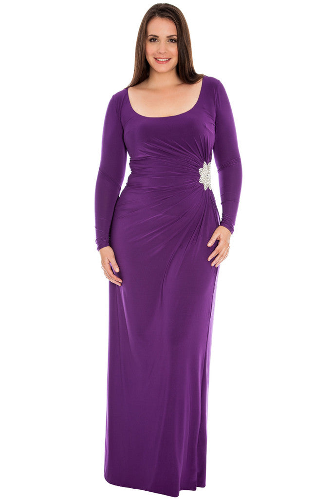 Plus Size Evening Dress - City Goddess Goddiva D2184BS
