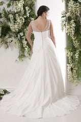 CLEARANCE WEDDING DRESS £250 (IVORY UK 24) - Plus Size Wedding Dress Callista GRENADINES